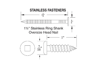 Fasteners for Dock Bumper