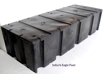 "Dock Flotation, Eagle Float, Size 48""x120"" (4'x10')"